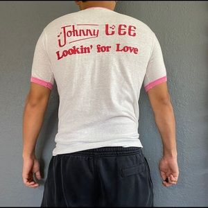 Hanes Shirts - Vintage 80s Music Johnny Lee Pink T-Shirt Size M